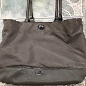 Coach Water proof brown/beige large shoulder bag